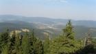 Widok ze szczytu zbocza przy penjsonacie Monte Negro